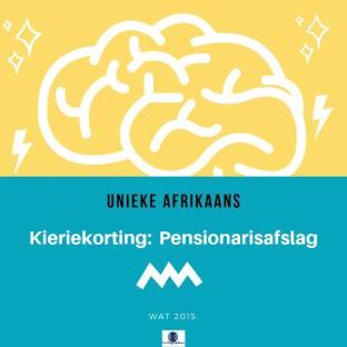 KIeriekorting - pensionarisafslag