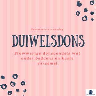 Duiwelsdons: Stowwerige donsbondels wat onder beddens en kaste versamel