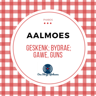 aalmoes in afrikaans
