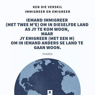 immigreer en emigreer
