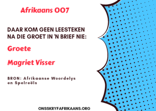 brief skryf in afrikaans