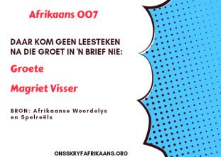 brief skryf in afrikaans