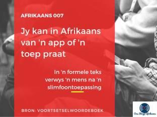app of toep in afrikaans