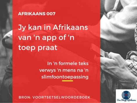 app of toep in afrikaans